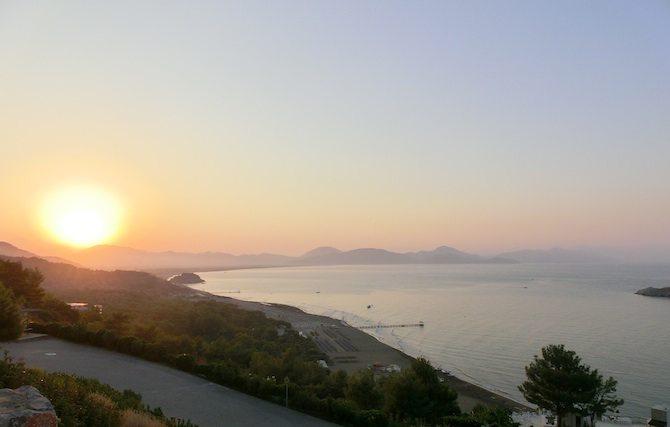 Sonnenaufgang in der Bucht von Sarigerme