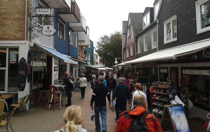Shoppingmeile auf Helgoland