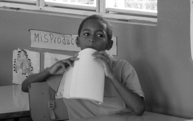 Schüler aus der Dominikanischen Republik