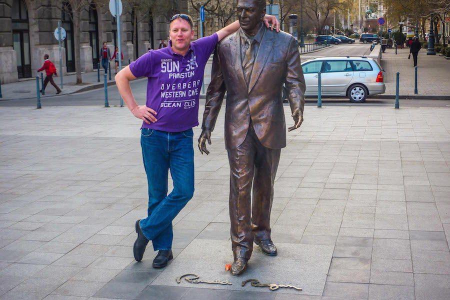 Budapest - Jörg Pasemann mit Ronald Reagan