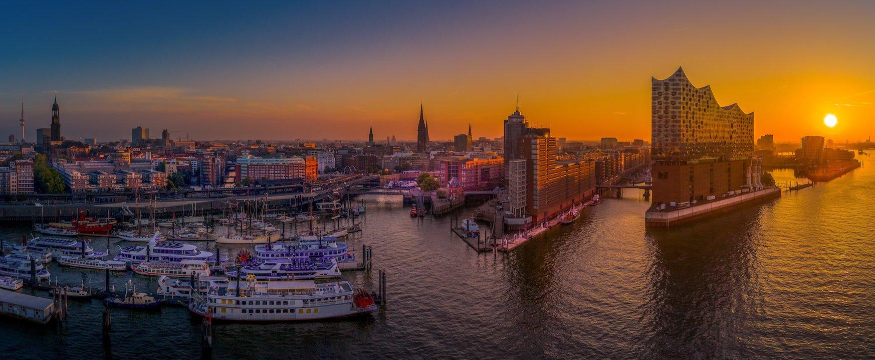 Hamburg von oben